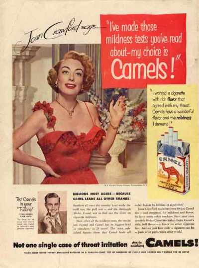 Figure 2. A testimonial from a celebrity about a brand of cigarettes